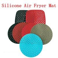 Air Fritador Esteira de Silicone (7.5 / 8 / 8.5 / 9 polegadas) Reversível Silicone não-Stick Dab tapetes de cozimento calçados silicone reutilizável por mar lla828