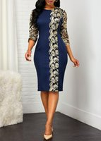 Casual Dresses Plus Size Dress 5xl Summer Sheath Lace O-Neck For Woman Party Evening African Women In Clothing Quality