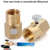 Smart Home Control Soda Stream Cylinder Refill Adapter With Switch For Bottle Bleed Valve TR21-4 To W21.8-14