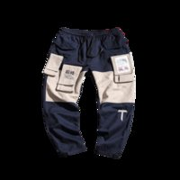 Arts And Crafts Fashion Color Patchwor Men's Cargo Pants Men 2021 Autumn Big Packet Loose Casual Joggers Trousers Sweatpants Streetwear