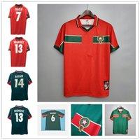 Top 1998 Maroc Soccer Soccer Jerseys Naybet Chemise de football NeqRouz Jersey Abrami Hadji Ouakili Classic Maillot de pied