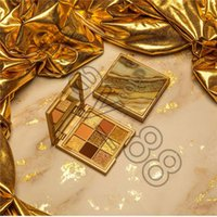 Top Quality Arrival Beauty 9 Colors Gold Eyeshadow Palette girl Makeup shadows shimmer matte eye Cosmetics free ship