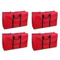 4 pezzi chiusura con cerniera extra grande sacchetto di stoccaggio coperte da dormitorio in movimento tote organizer home heavy duty oxford panno per vestiti borse