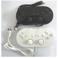 تحكم اللعبة السلكية الكلاسيكية gamepad ل nes وي الاهتزاز مقبض لاعب المقاول