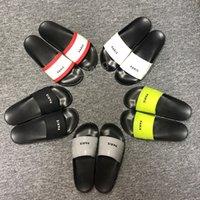 2021 Mode Slide Sandalen Hausschuhe für Männer Frauen mit Original Box Designer Unisex Top Qualität Indoor Strand Flip Flops Slipper