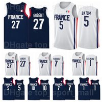 2021 Tokyo Olimpiadi Francia Basket Jersey Rudy Gobert 27 Nicolas Batum 5 7 Guerschon Yabusele 1 Frank Ntilikina 10 Evan Fournier Vincent Poirier Man Youth Woman
