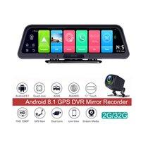 10 بوصة 4G + WIFI لوحة القيادة سيارة كاميرا 2 جيجابايت + 32 جرام 1080P DVR مرآة مسجل مع جهاز التحكم عن بعد، التنقل GPS وكاميرات العرض الخلفي بلوتوث P