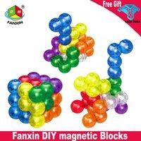 FanXin Magic Cube 3x3 DIY Blocos Magnéticos Cubo de Velocidade Adesivo 3x3x3 Brinquedos para Crianças Educacional Cubo Mago
