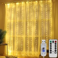 USB Garland LED Curtain Light 3m*3M 300 heads Decoration Curtains 8 models For Party Christmas Wedding