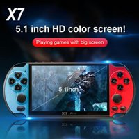 5.1 Inch HD Screen 8G Rom X7 Plus Double Rocker Handhelds Player Retro Handheld Games Console 32 64 128 Bit Video MP5 MD SFC GBA PAP Game