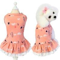 Ropa de perro Vestidos impresos para ropa de mascotas Puppy Cat Chaleco Vestido Falda de verano Camisa acogedora Chicas Vestido PERRO