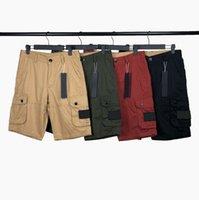 Erkek Şort Yaz Klasik Pantolon Taş Moda Açık Pamuk Kargo Kısa Rozeti Mektuplar Orta Pantolonun Hip Hop Beşinci Pantolon Ada Rahat Erkekler Giyim