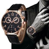 손목 시계 제네바 비즈니스 가죽 시계 남자 블랙 숫자 군사 시계 망시 시계 쿼츠 손목 시계 Reloj Hombre Relogio Feminino