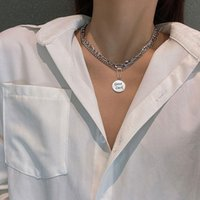 Chokers Trendy Stainless Steel Good Luck Pendant Multi-layer Punk Design Long Chain Necklace For Women Men Jewelry Gifts