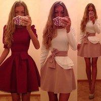 Casual Dresses Fashion Cute Ladies Womens Summer Ruffles Bow Sashes Bodycon Evening Party Short Mini Dress
