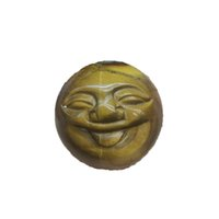 Regalo natural misceláneo de piedra talla sonriente cara bola palma cuarzo reiki chakras gema mineral curación casa decoración