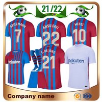 21 22 Barcelona Messi Soccer Jersey Barca FC Kun Aguero Griezmann F.De Jong Dest Pedri Camisa de futebol Homens Mulheres Kit Kit Socks