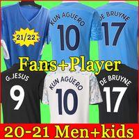 2021 Manchester Soccer Jersey 20 21 G. Jesús City Sterling Ferran de Bruyne Kun Agüero Football Shirts Hombre Uniforme Hombres + Kit Kids