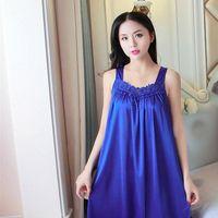 Сексуальное ночное платье нижнее белье Ночная одежда Женщины Сорла V-образным вырезом Camisola Nightgown Koszula NOCNA 4 цвета плюс размер Dropshipping