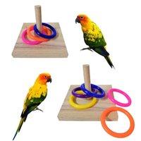 기타 조류 용품 애완 동물 교육 대화 형 장난감 앵무새 나무 플랫폼 플라스틱 반지 지능 훈련 씹는 퍼즐