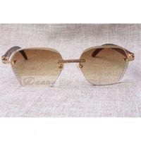 2021 novo estilo de alta qualidade luxo moderno diamante pavão óculos de sol 8100909 Lente de prata marrom para homem e mulher, tamanho: 60-18-135mm