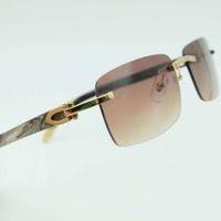 أسود iEnbel نظارات شمسية ريال بوفالو قرن عشوائي أبيض ومربع الرجال كارتر الزجاج ظلال الوصفة البصرية
