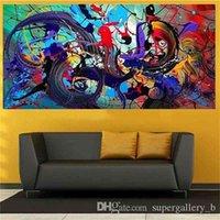 Stampa HDPaind HD Modern Abstract Art Art Pittura a olio su tela, arredamento della parete della casa Multi formati / opzioni del telaio G192 PSDR