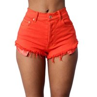 Women's Jeans Summer Multicolor Tight Women High Waist Denim Shorts Color Sexy Loose Thin For