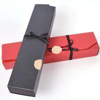 Moda Caja de papel de chocolate negro Red Party Regalos de chocolate Cajas de embalaje para el día de San Valentín Suministros de cumpleaños de Navidad DFF4039