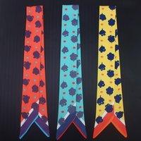 Классический дизайн красочные уникальные поступления леди шелк удлиняют рибандскую сумку шарф длинные ленты волос бандаж колье шеи украшения бандана