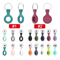 Soft TPU Silicone Protective Cases for Airtag Anti-lost Alarm Device Finder Keychain Tracker Protect Cover with Buckle Scratch Resistant