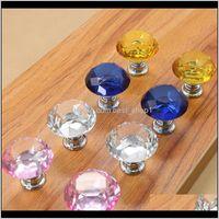 30Mm Diamond Crystal Door Glass Der Knobs Kitchen Cabinet Furniture Handle Knob Screw Handles And Pulls Owa957 Qfvcq 1Puqa