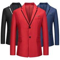 Men's Suits & Blazers Fashion Solid Color Suit Jacket Slim All-match European Size S-3XL Six Options