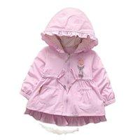 VIDMID Children's baby windbreaker jacket for winter Autumn kid girls parka kids child Trench Coat girls Jackets P1036 210607