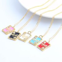 Pendant Necklaces Square MAMA Necklace For Women Mother's DayChoker Long Chains Neck Lace Gold Collar Gift Boho Party Jewelry 2021