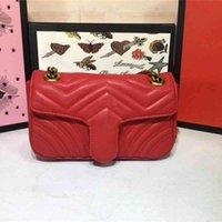 Designer Handbags Luxury Borse Borsa MARMONT Quolting 446744 Borse a spalla piccola in pelle blu Matelass Mini catena Dimensioni: 22 * 13 * 4 cm