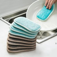Panos de limpeza de cozinha Pincéis de cozinha Anti graxa Wiping Rags Absorvente Lavagem Prato Acessórios de Pano Esponja FWB10012