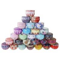 Merry Christmas Pattern Metal Box Circular Aromatherapy Candle Jar Geurende Thee Candy Packing Makou Iron Case 1 6TB J2