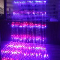 Strings Year 6X3M LED Waterfall Curtain Icicle Festoon String Light Christmas Wedding Party Background Garden Decoration Lights