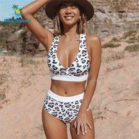 Beachsissi Высокая талия Бикини Push Up Купальник Леопард Купальники Женщины Бразильский Бикини Комплект бикини Бикини Бикини Набор Beachibi Sexy Beaking Beachwear 210409