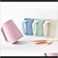 TUMBLERS 4 색 450ml 내구성 유럽 스타일 다기능 경향 입 크리 에이 티브 커피 컵 우유 머그잔 Ohhn6