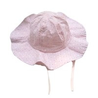 Caps & Hats Baby Girls Fisherman Hat For Girl Kids Bucket Spring Summer Travel Beach Sunhat With Windproof Rope Children Cap 6-24 Month
