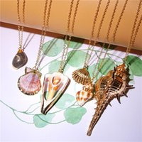 Pendant Necklaces Chain Shell Necklace Pendants Golden Boho Real Seashell Choker For Women Cowrie Wedding Jewelry Charms Female Bff Gifts