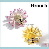 Bee Daisy Enamel Fashion Girls Brouch Pins Rhinhone для женщин Шарф Зажим, Аксессуары насекомых 5XYWJ MPAFG