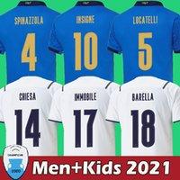 Maillot de football Italie 2021 Maillot de foot italy 2022 hommes et enfants qualité supérieure de la thaïlande INSIGNE IMMOBILIER CHIESA BARELLA JORGINHO
