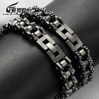 Vintage Motorcycle Men Bracelet 15MM Stainless Steel Retro Jewelry Wide Hand Chain Accessories Wristband Male Bangles For Friend Charm Brace