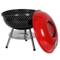 14-calowe przenośne małe grille grill w węgiel drzewny Camping Emaliowany Outdoor Cooking Hurtownie