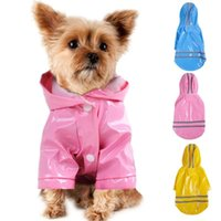 Dog Apparel Summer Outdoor Puppy Pet Rain Coat S-XL Hoody Waterproof Jackets PU Raincoat For Dogs Cats Clothes Wholesale #F#40JE14