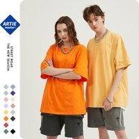 T-shirt da uomo in cotone semplice maschile manica corta uomo oversize uomo puro colore tshirt uomo streetwear tee street wear 2xl