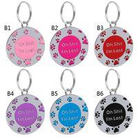 Anti-Lost-Welpen-Hund-ID-Tag personalisierte Hunde Katzen-Name-Tags-Halsband-Halsketten Graviertes Pet-Namensschild-Zubehör RRD6800